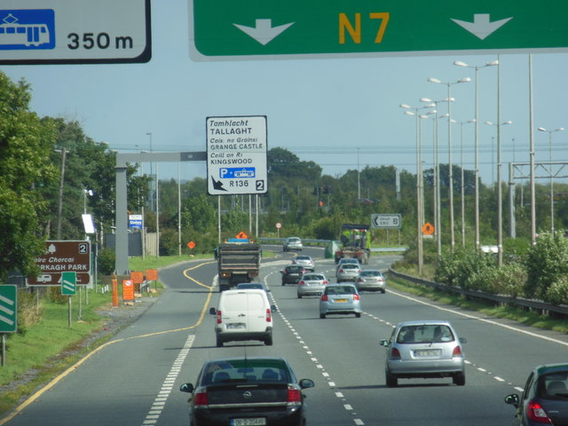 The N7 / E20 at junction 2