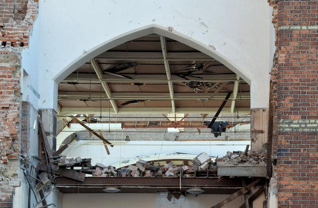 Gt Victoria Street Baptist church (demolition) - September 2014(2)