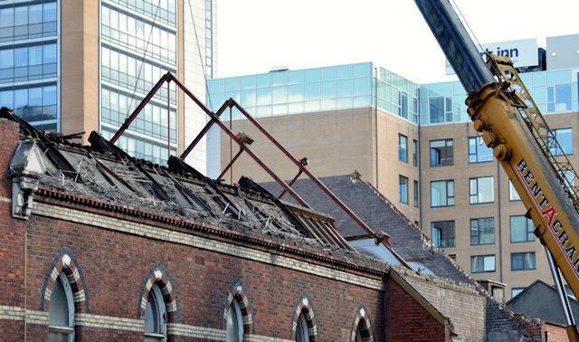 Gt Victoria Street Baptist church (demolition) - September 2014(3)