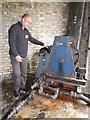 SU4924 : Twyford Waterworks - hydraulic haulage engine by Chris Allen
