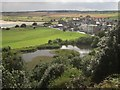 NU2410 : View to Alnmouth from Alnmouth Common by Graham Robson
