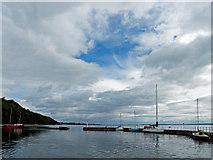 NH7055 : Avoch Harbour at high tide by Julian Paren
