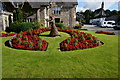 NN9458 : Floral display, Pitlochry by jeff collins
