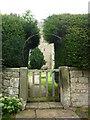 NZ0982 : St Andrew's Church, gate by Carroll Pierce