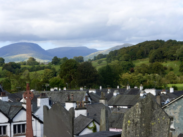 View from the churchyard, Hawkshead