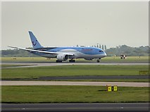 SJ8184 : Thomson Holidays Boeing 737 at Manchester Airport by David Dixon
