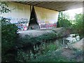 TQ5571 : River Darent beneath the M25 Motorway by Chris Whippet