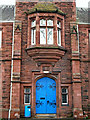 NY4056 : Door, Trinity School by Rose and Trev Clough