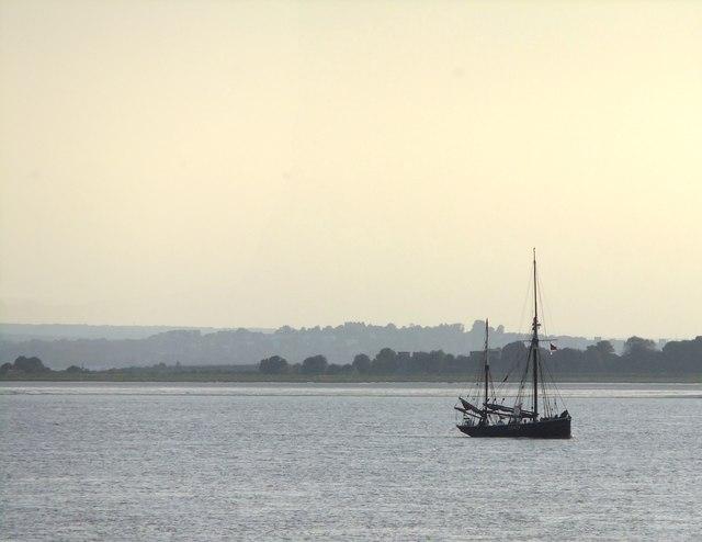 A sailing trawler in the Thames Estuary