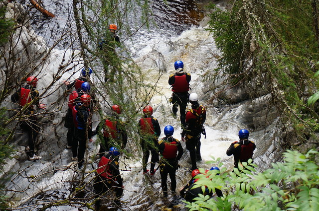 Canyoning on the Bruar Water
