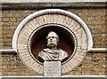 TQ2980 : Bust of the 14th  Earl of Derby, Great Windmill Street by Julian Osley