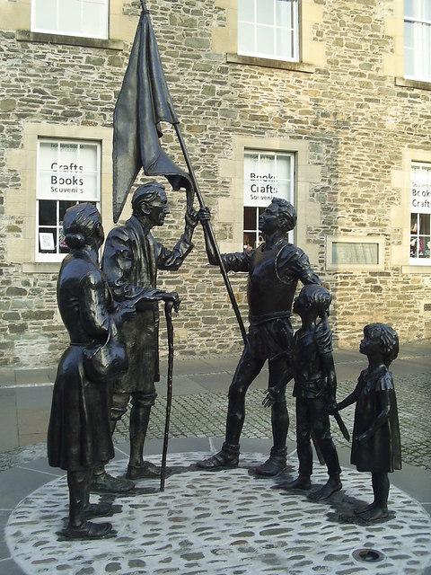 'Return from Hornshole' Monument
