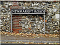 TG1905 : Newmarket Road sign by Adrian Cable