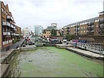 TQ3680 : Entrance to Limehouse Basin by Chris Whippet