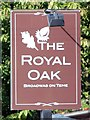 SO7555 : The Royal Oak sign by Oast House Archive