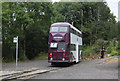 SK3455 : Blackpool 711 at Glory Mine terminus by Alan Murray-Rust