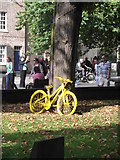 SE6052 : Yellow bicycle, Duncombe Place, York by Robin Sones