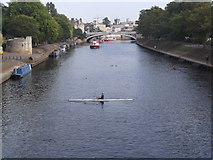 SE5952 : Rower on the Ouse, York by Robin Sones