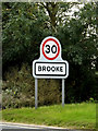 TM2899 : Brooke Village Name sign by Adrian Cable