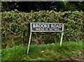 TM3098 : Brooke Road sign by Adrian Cable