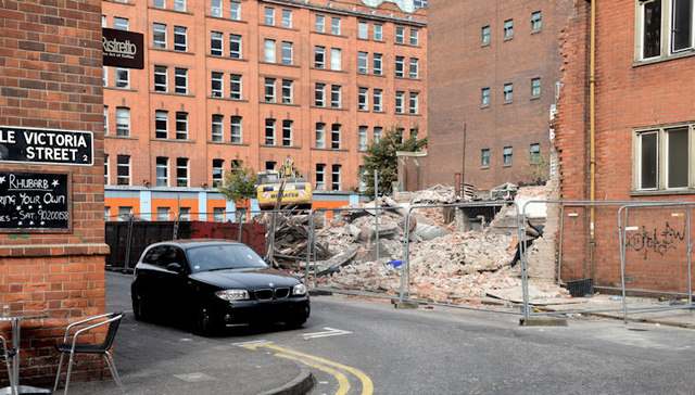 Gt Victoria Street Baptist church, Belfast (demolition) - September 2014(5)