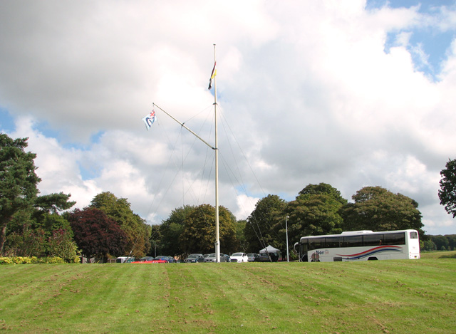 Flags at the former RAF Coltishall airfield