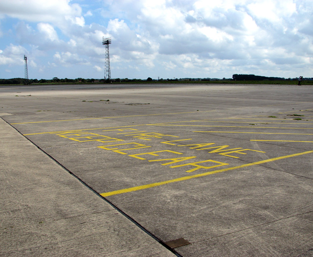 Fire lane on taxiway