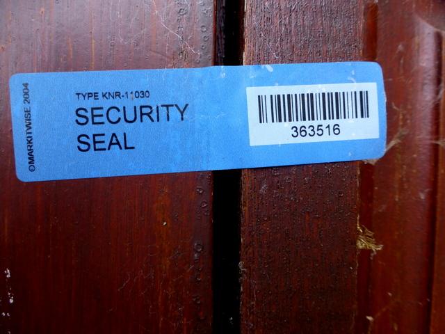 Security seal, St Lucia Barracks