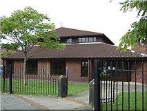 SJ4887 : St Basil & All Saints Church on Hough Green Road by JThomas