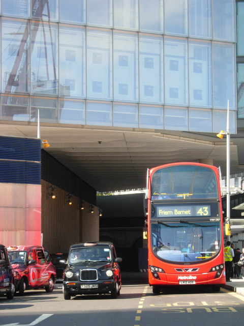 Buses and taxis, London Bridge