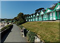 SS6087 : Long line of chalets facing Langland Bay, Swansea by Jaggery