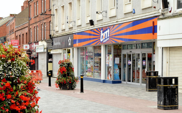 """b&m"" shop, Lisburn (September 2014)"