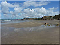 SM8513 : Little Haven beach - tide out by Richard Law