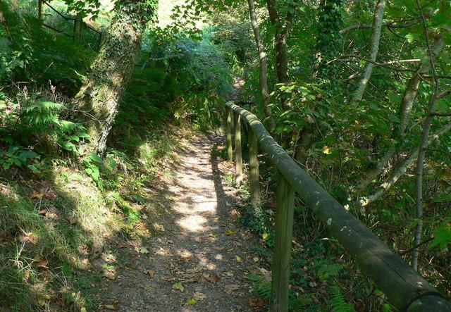 Footpath beside Lower Lliw reservoir