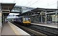 SJ4084 : Platform 1, Liverpool South Parkway Railway Station by JThomas