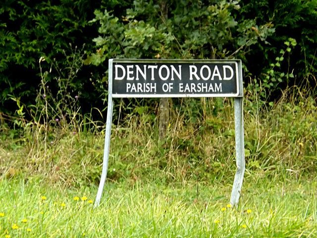 Denton Road sign