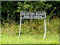 TM2890 : Denton Road sign by Adrian Cable