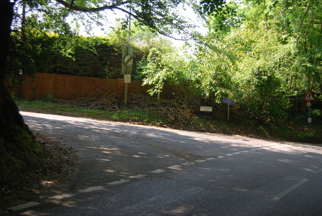 Hall's Hole Rd, Cornford Lane junction by N Chadwick
