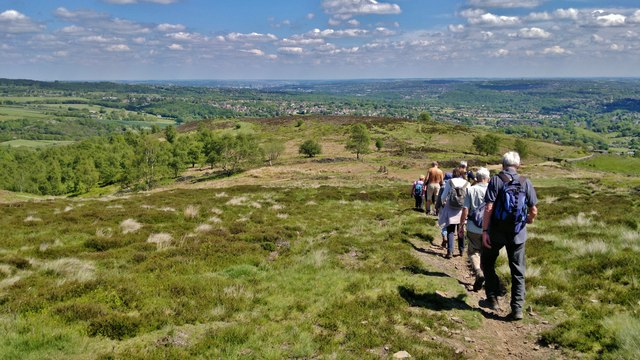 Descending Wimble Holme Hill off Totley Moss