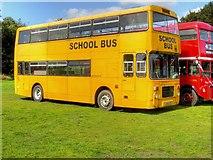 SD8203 : Yellow School Bus at Heaton Park by David Dixon