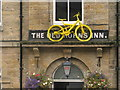 SK2692 : Yellow bike in Bradfield by Dave Pickersgill