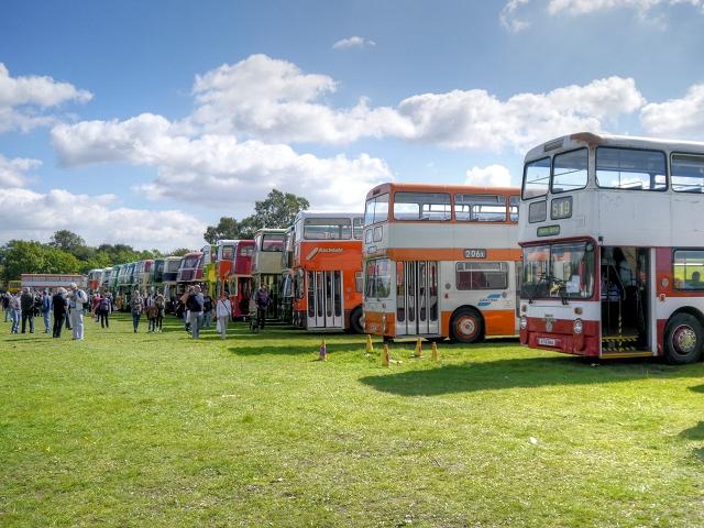 Bus Display, 2014 Trans Lancs Rally, Heaton Park Manchester