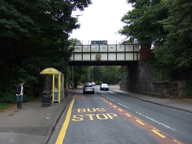 Disused Railway bridge over Belle Vale Road