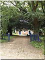 TM2788 : Entrance to Denton United Reformed Church by Geographer