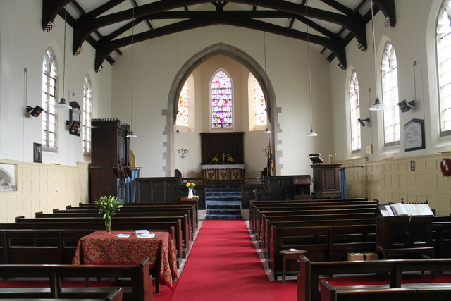 Interior, St Mary's church, South Kelsey