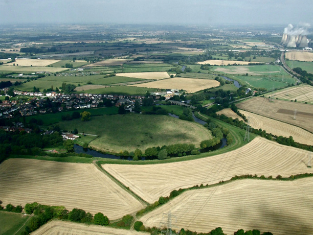 The River Soar from the air