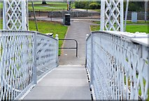 NT2540 : Newly resurfaced footbridge, Peebles by Jim Barton