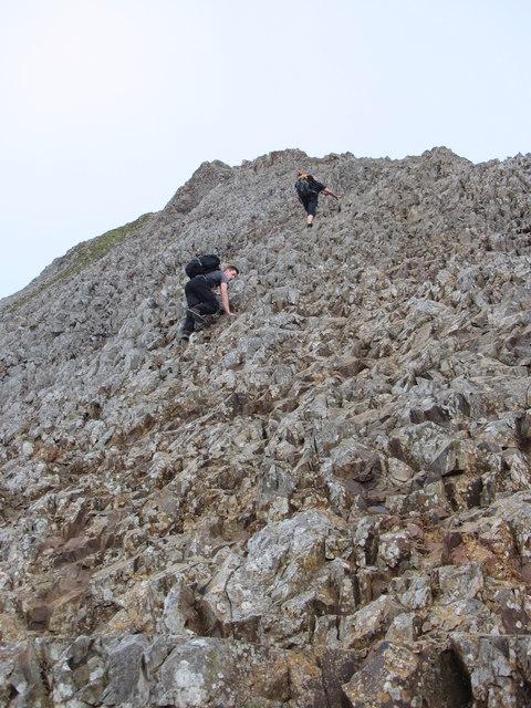 The final part of the climb to Crib Goch