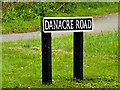 TM2987 : Danacre Road sign by Adrian Cable