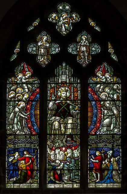 Stained glass window, All Saints' church, Faldingworth